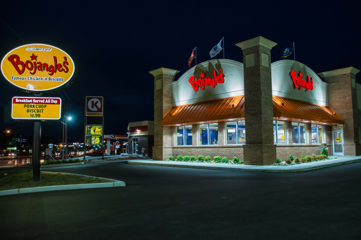 The front exterior of a Bojangles restaurant