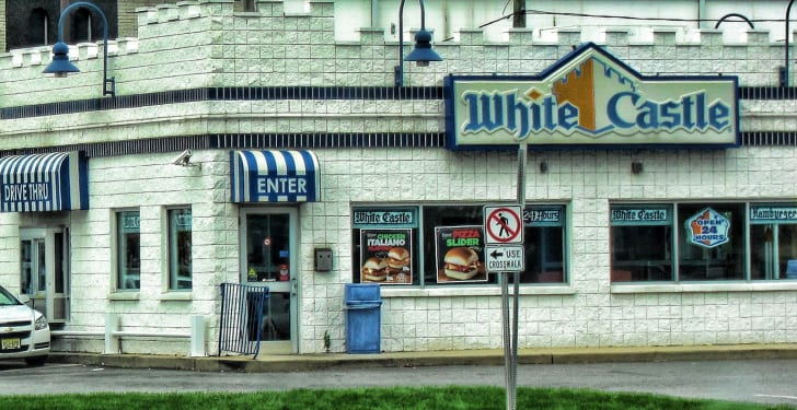 The front exterior of a White Castle restaurant