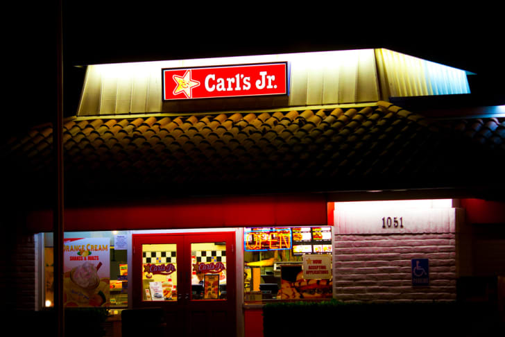 The front exterior of a Carl's Jr. restaurant