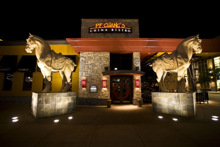 The front exterior of a P.F. Chang's restaurant