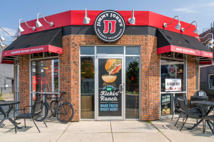 The front exterior of a Jimmy John's restaurant