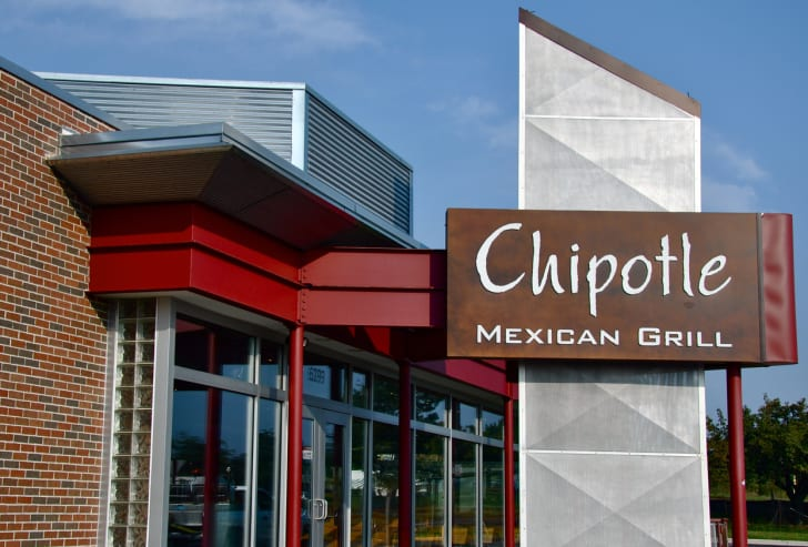 The front exterior of a Chipotle restaurant