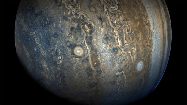 A view of Jupiter's surface