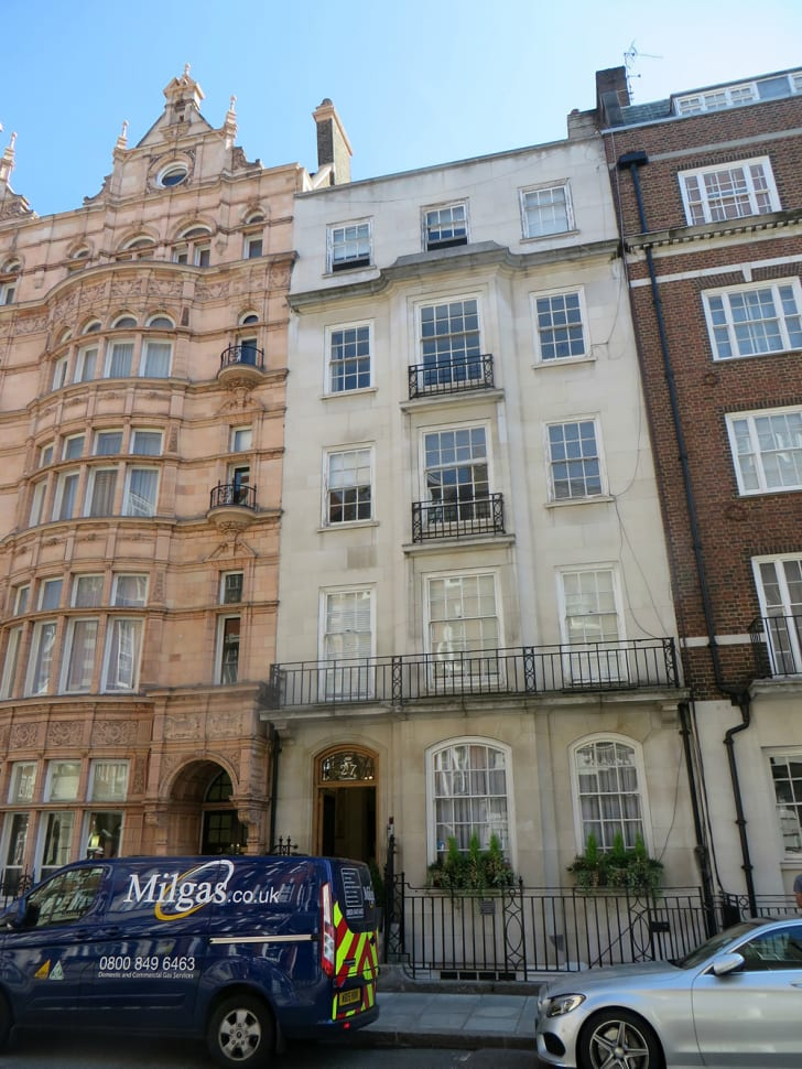 27 Wimpole Street, London, as it looks today