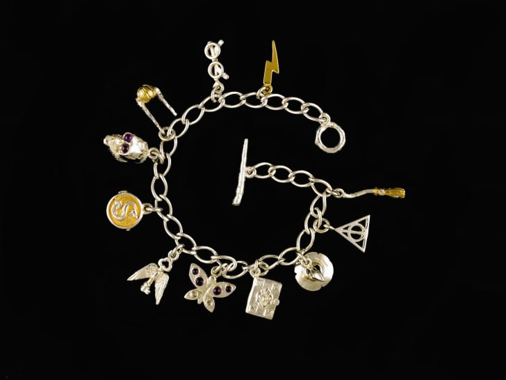 Bracelet with Harry Potter charms.