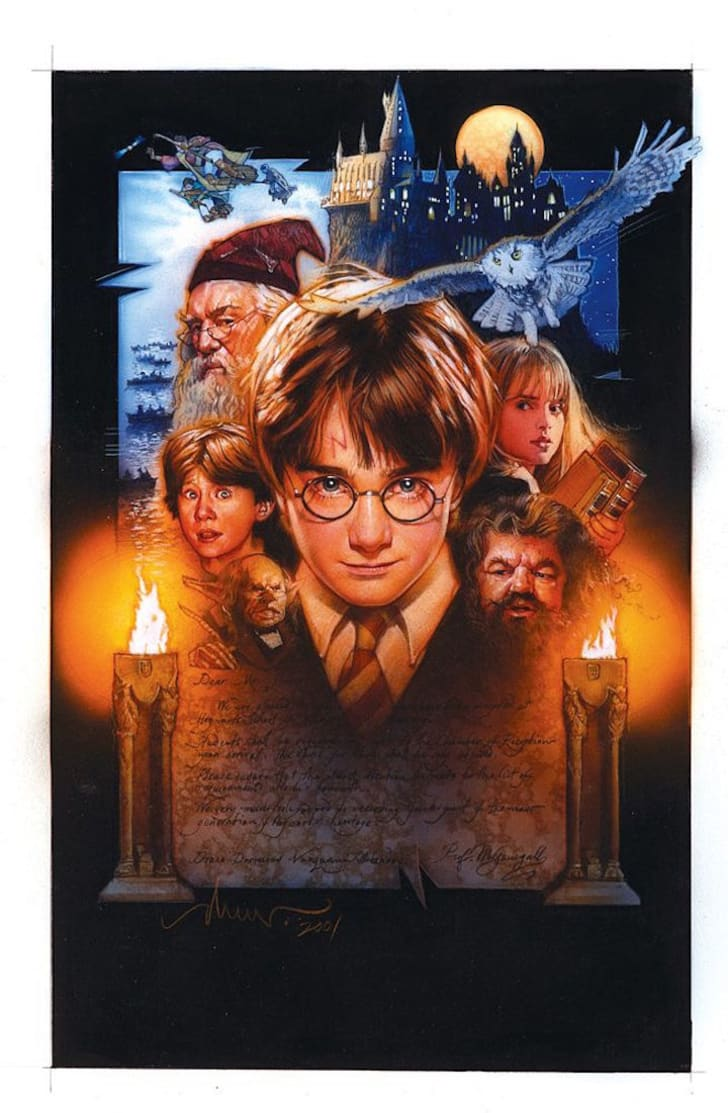 Original poster art from Harry Potter and the Sorcerer's Stone.