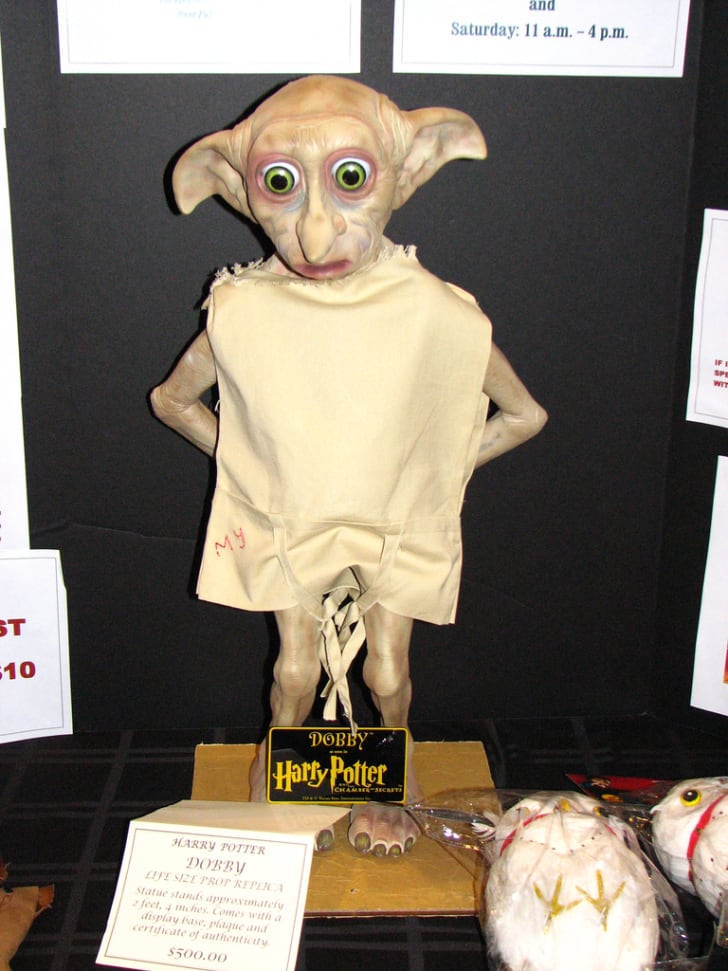 Statue of Dobby the house elf.
