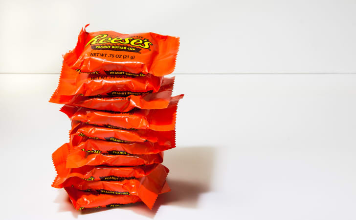 Stack of Reese's Peanut Butter Cups.