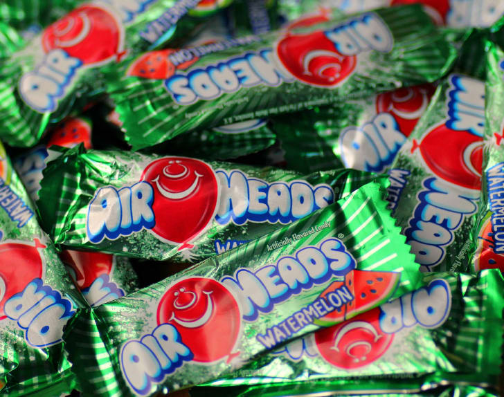 Pile of AirHeads candy.