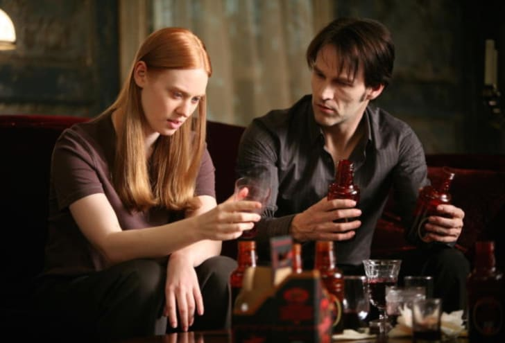 Deborah Ann Woll and Stephen Moyer in 'True Blood'