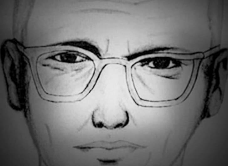 A police sketch of a Zodiac killer suspect