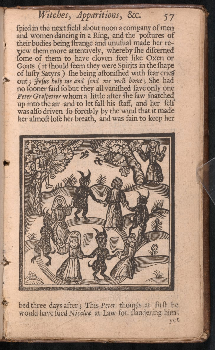 R.B., 1632 to 1725, The kingdom of darkness: or, The history of daemons, specters, witches, apparitions, possessions, disturbances, and other wonderful and supernatural delusions, mischievous feats and malicious impostures of the Devil.