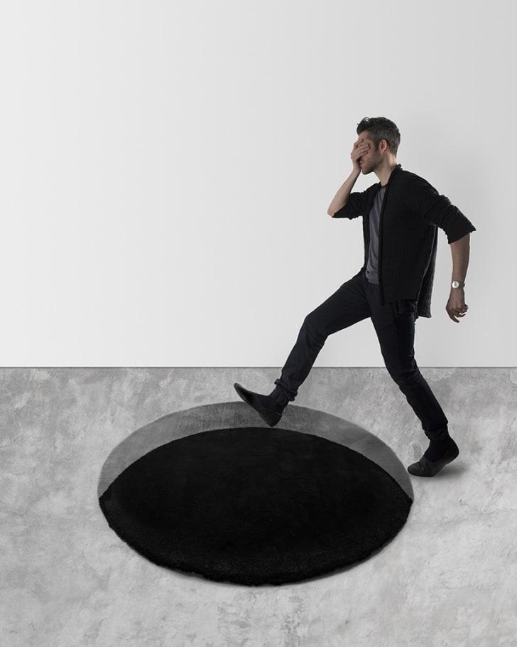 Void rug optical illusion.