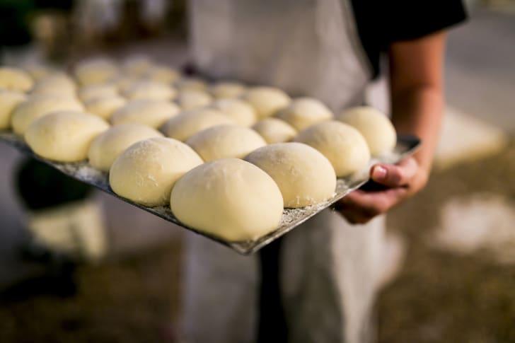 Raw dough.