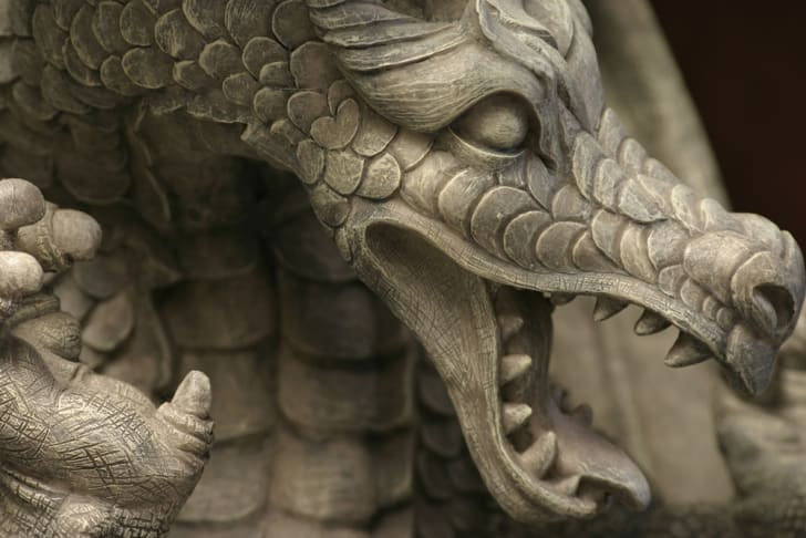 A stone dragon