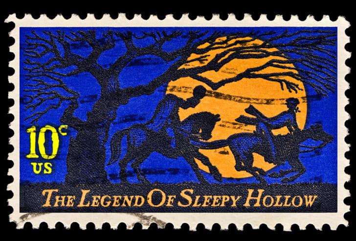 Th legend of Sleepy Hollow headless horseman stamp