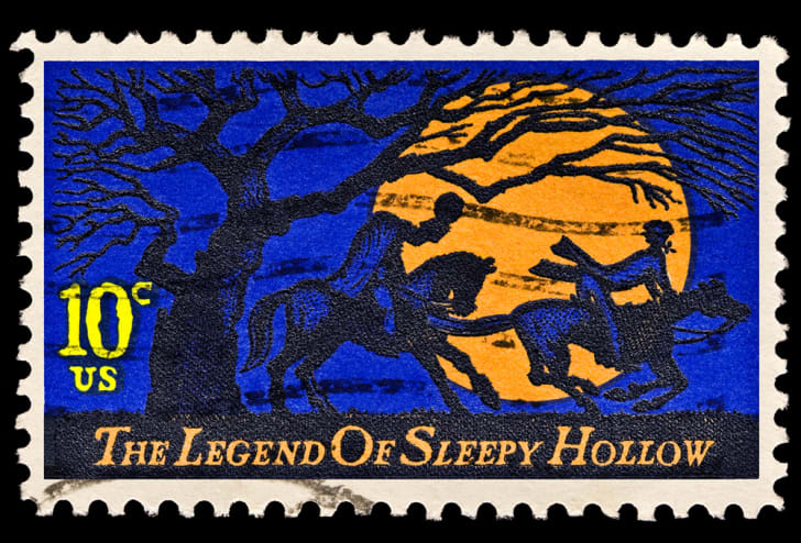 Th legend of Sleepy Hollow headless horseman stamp