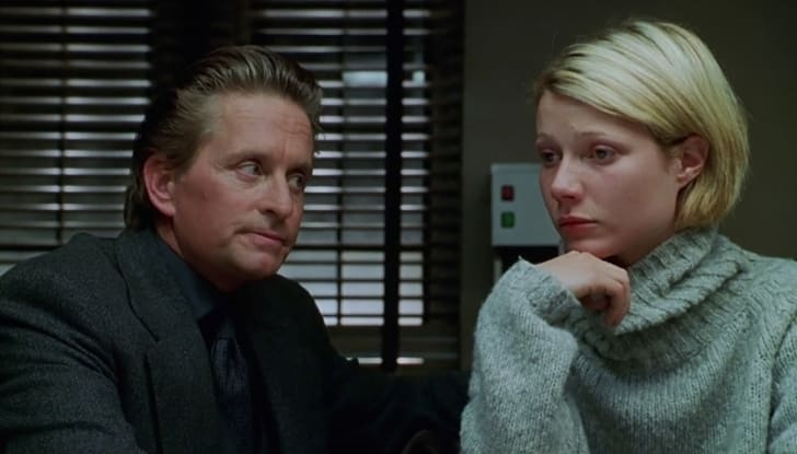 Michael Douglas and Gwyneth Paltrow in 'A Perfect Murder' (1998)