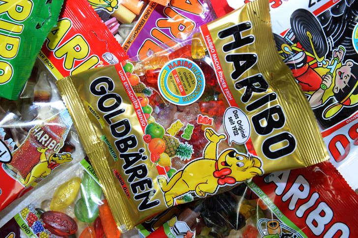 A bag of Haribo gummy bears.