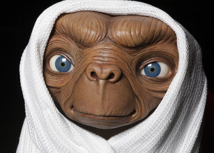 A wax figure of the alien from 'E.T. the Extraterrestrial.'