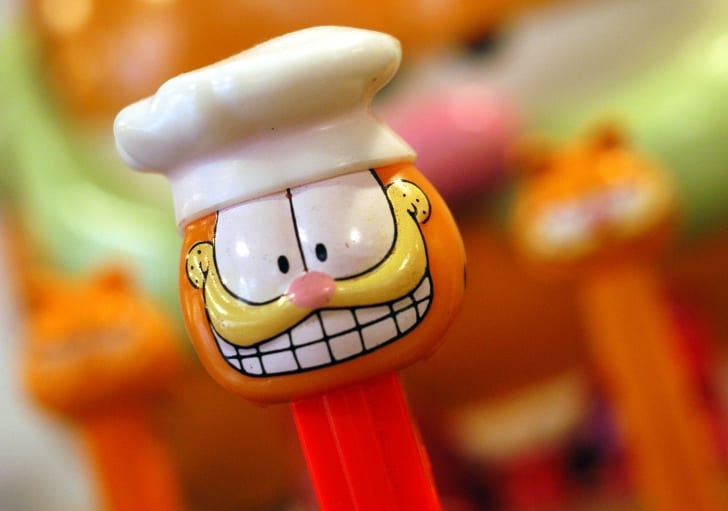 A Garfield Pez dispenser.