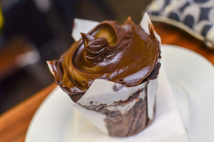 A chocolate cupcake from Baked & Wired in Washington, D.C.