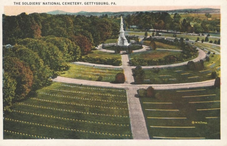 A Gettysburg postcard from pre-1930