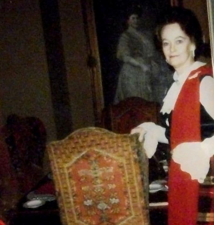 A photograph of Lorraine Warren.