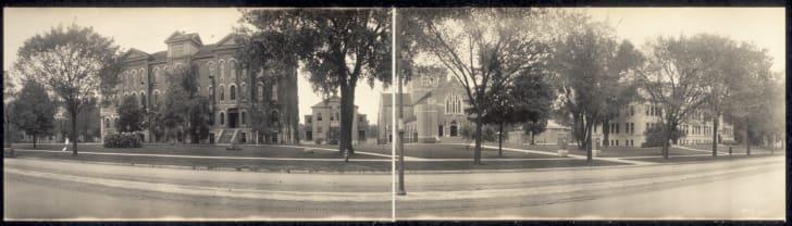 The exterior of Coe College in Iowa.