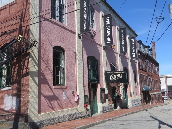 The exterior of the music hall in Portsmouth, New Hampshire.