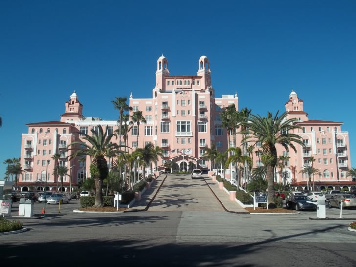 A photo of the exterior of the Don CeSar Hotel in Florida.