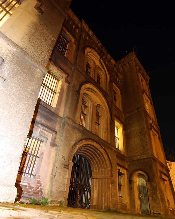 The exterior of Old City Jail in Charleston, South Carolina.