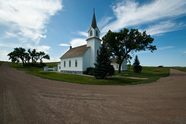 The church in Sims, North Dakota.