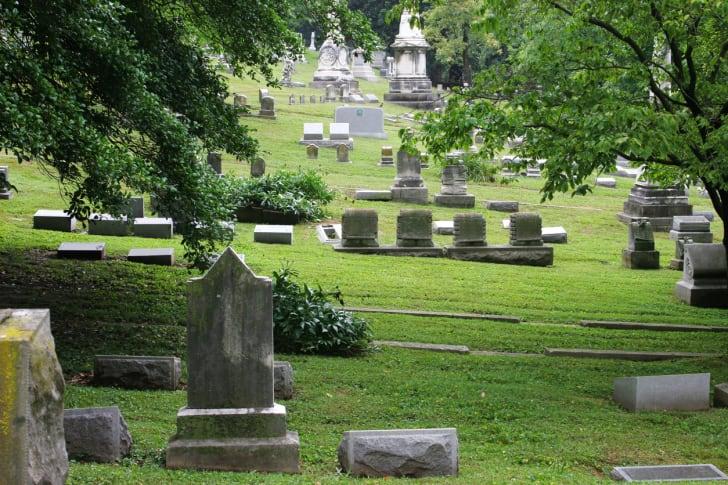 A peaceful cemetery in Kentucky.