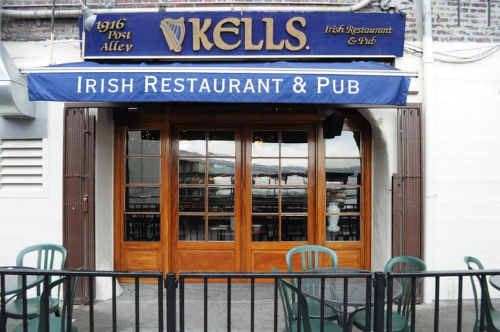 One of the entrances to Kell's Pub in Seattle, Washington.