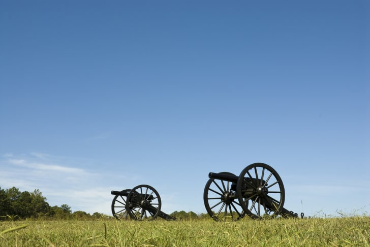 Cannons on Chickamauga battlefield in Tennessee.