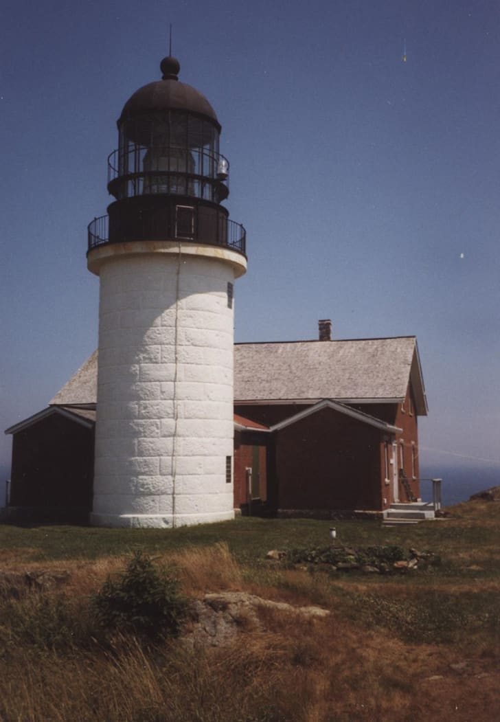 The exterior of Seguin Light in Maine.