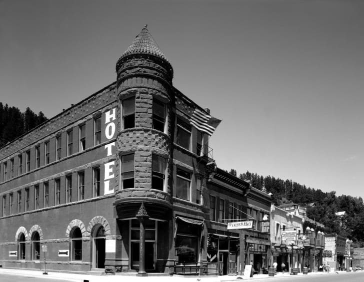 The exterior of the Old Fairmont Hotel in Deadwood, South Dakota.
