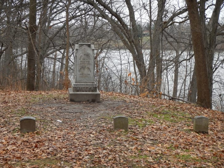 The grave of Kate M. Blood in Appleton, Wisconsin.