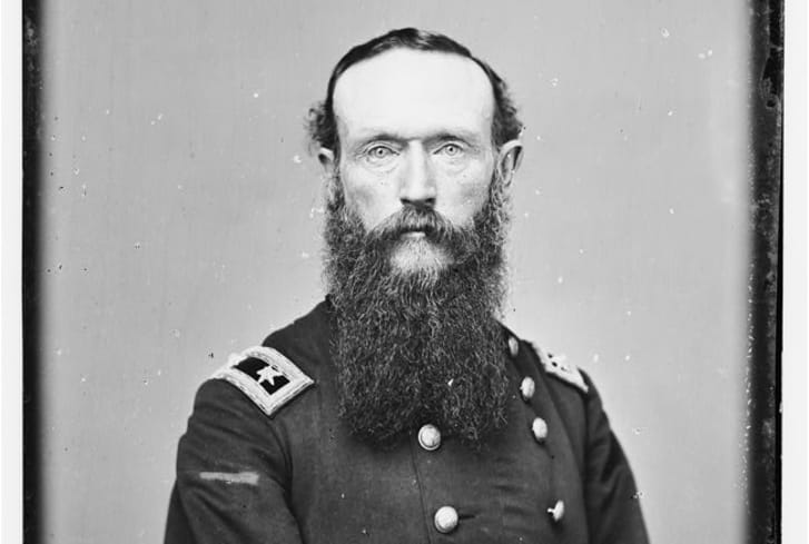 A portrait of Union General Frederick Steele.