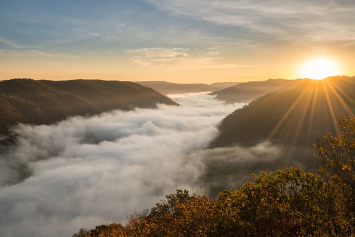 Photo of Appalachian Mountains in West Virginia