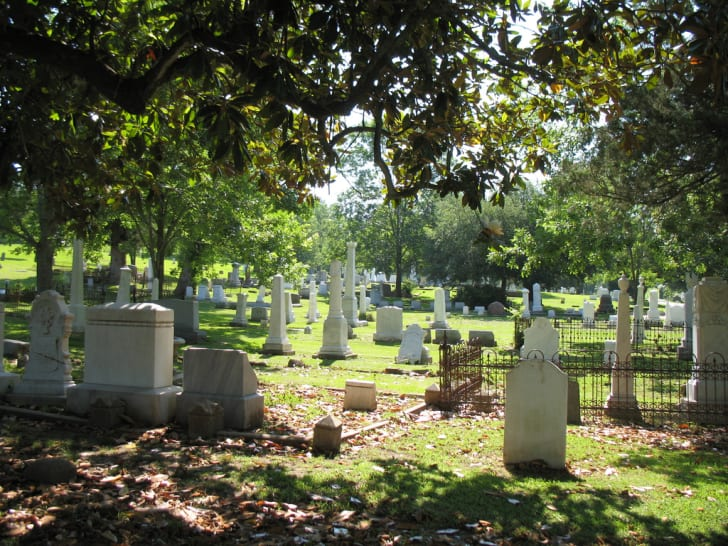 Glenwood Cemetery in Yazoo City, Mississippi.