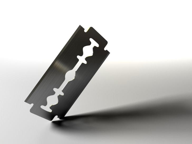 Photo of a sharp razor blade