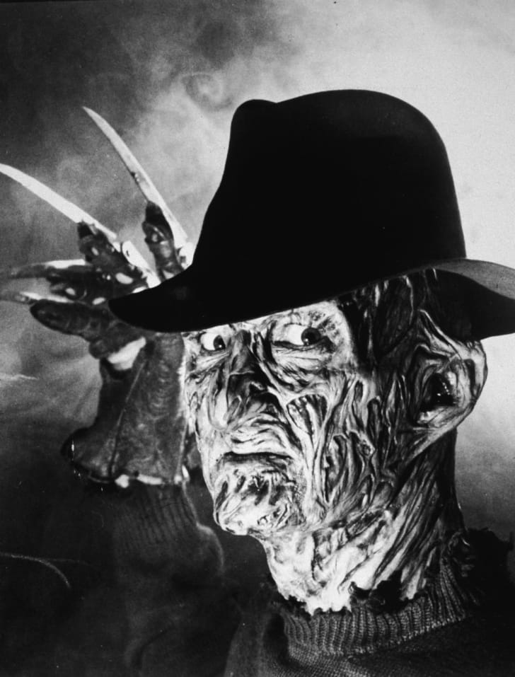 A promotional image of Robert Englund as Freddy Krueger