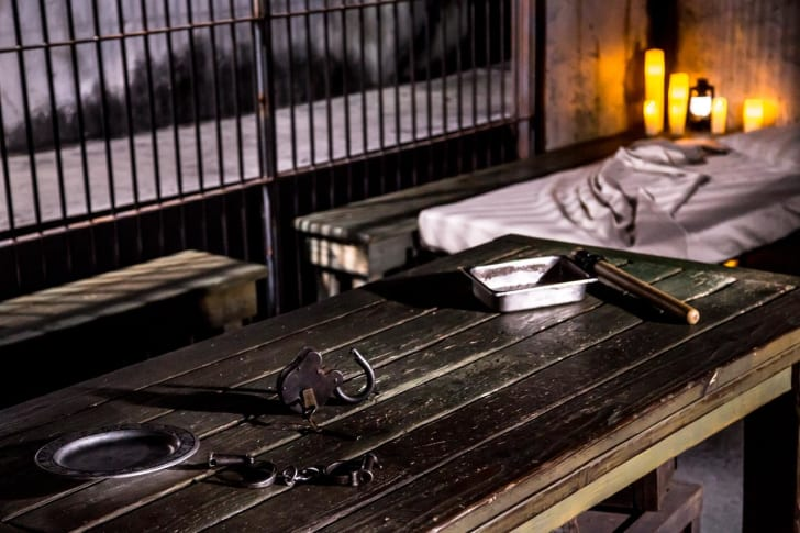 """The reconstructed """"Ghosts of Alcatraz Suite"""" at Alcatraz Federal Penitentiary"""