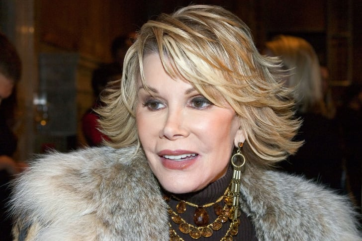 A photo of comedian Joan Rivers.