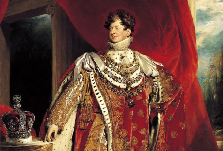 The coronation portrait of George IV by Sir Thomas Lawrence.