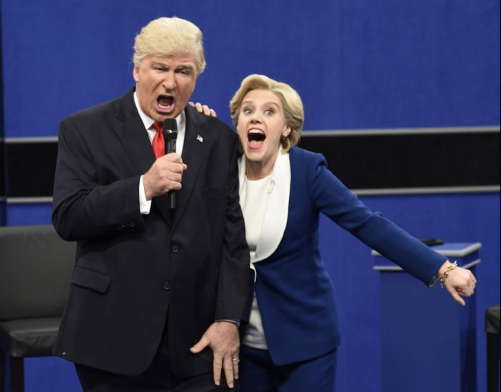 Alec Baldwin and Kate McKinnon on Saturday Night Live