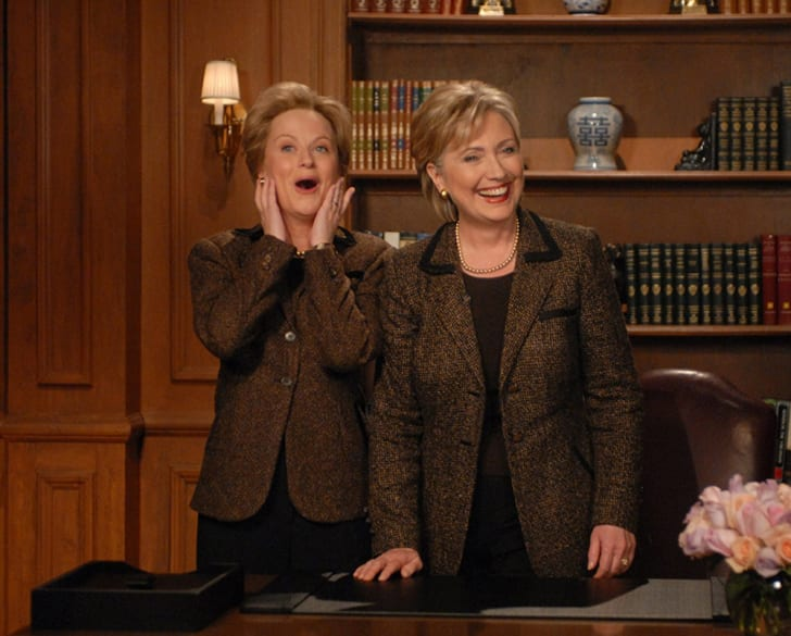 Amy Poehler and Hillary Clinton on Saturday Night Live