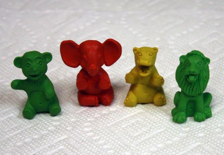 Four Diener Keshi McDonald's Happy Meal Circus Toys.